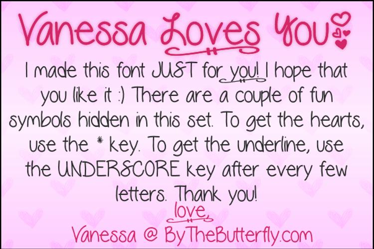 VanessaLovesYou Font