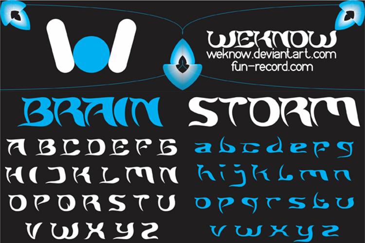 BRAIN STORM Font