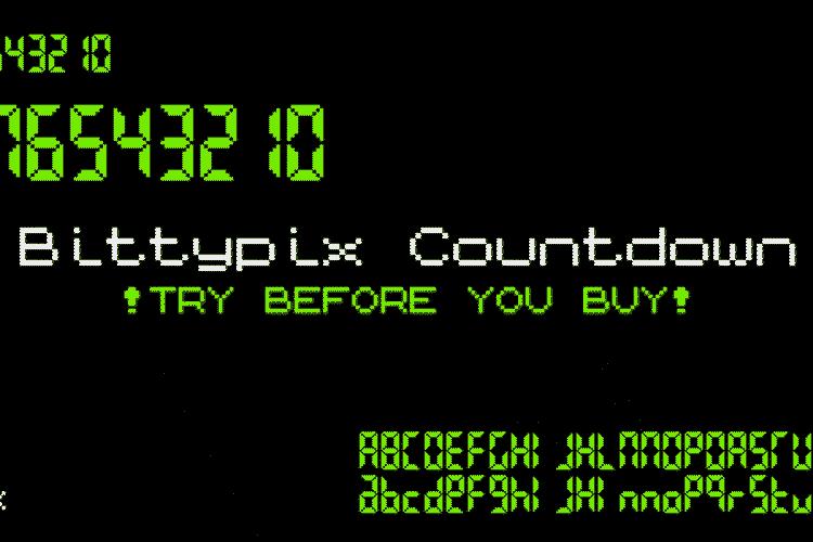 Bittypix Countdown Font