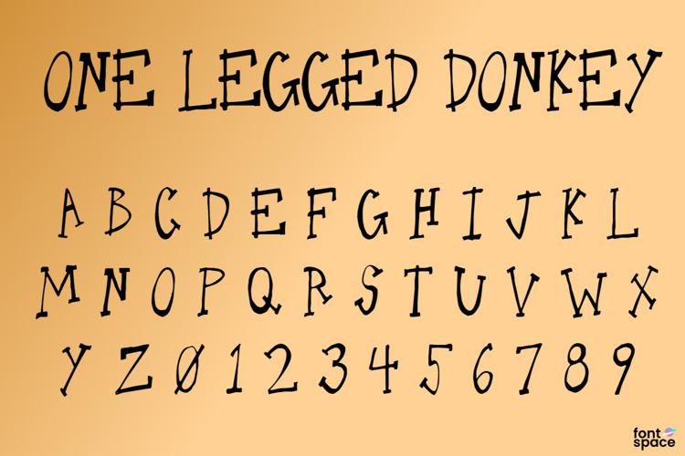 One Legged Donkey Font