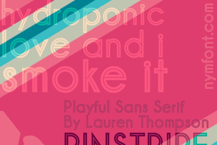 Pinstripe Limo Font