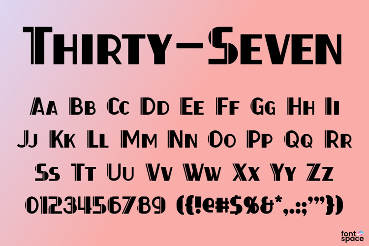Thirty-Seven Font