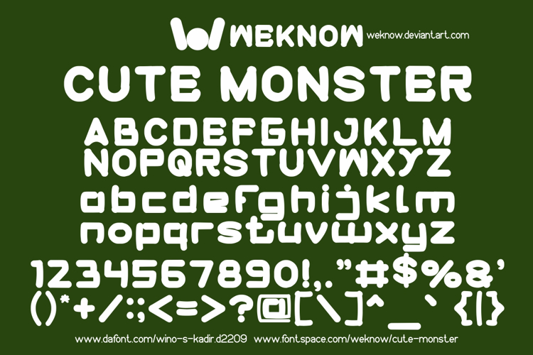 cute monster Font