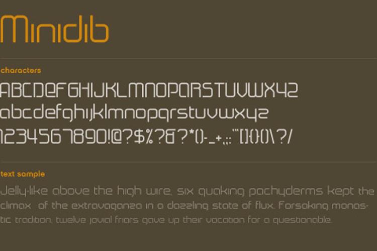 Minidib Font