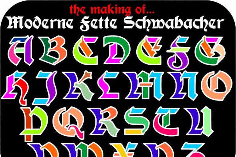 Moderne 3D Schwabacher Font