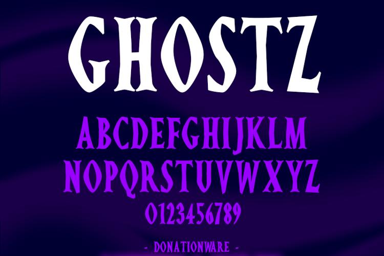Ghostz Font