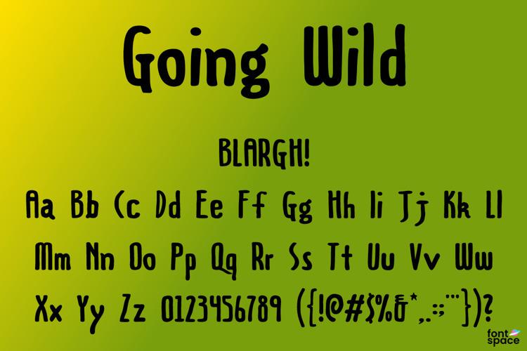 Going Wild Font