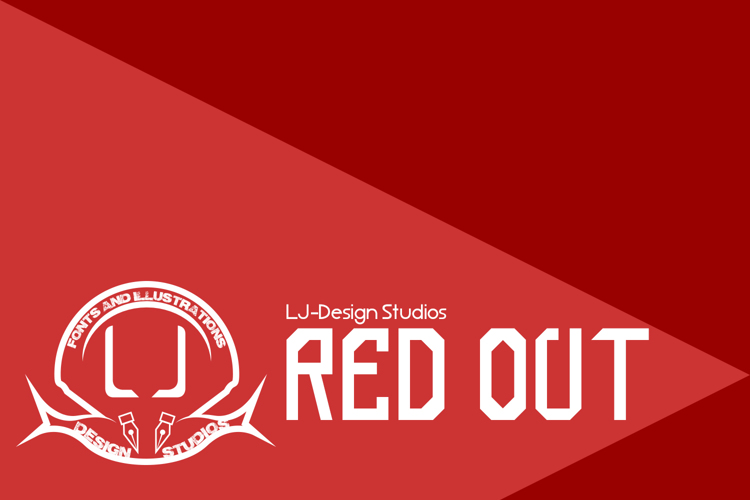red out Font