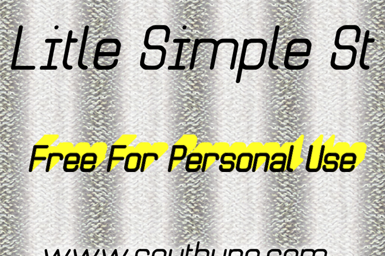 Litle Simple St Font