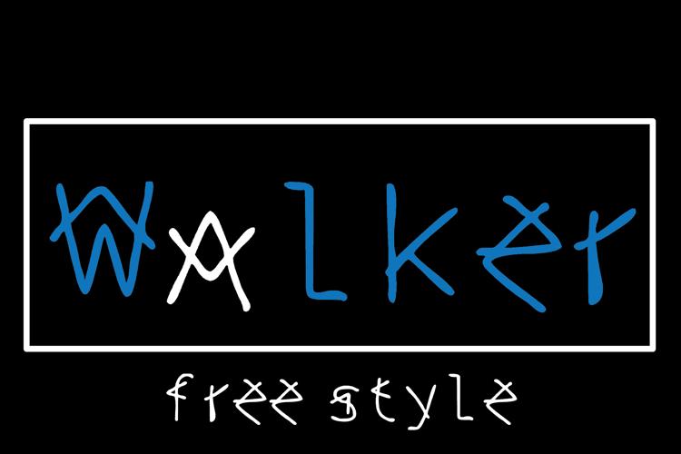 walker free style Font