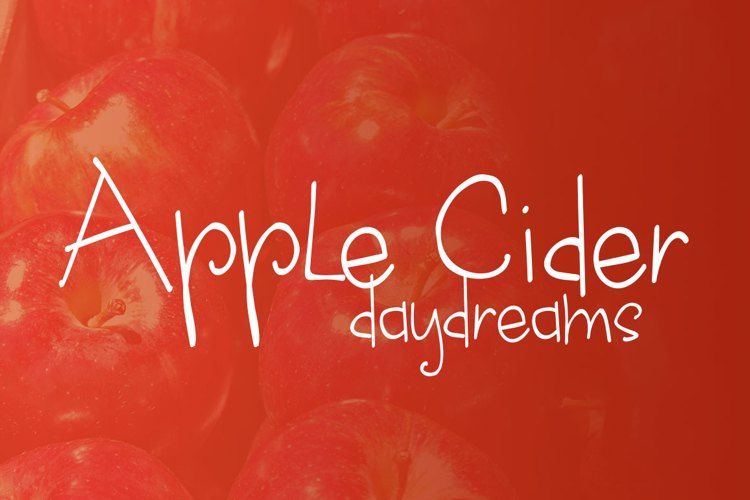 apple cider daydreams Font
