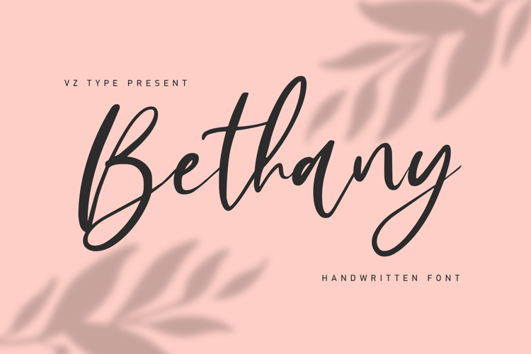 Bethany Signature Font