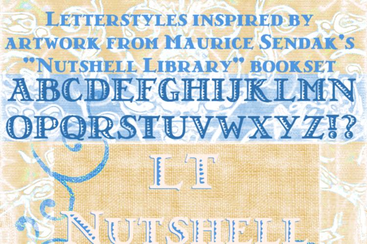 LT Nutshell Library Font