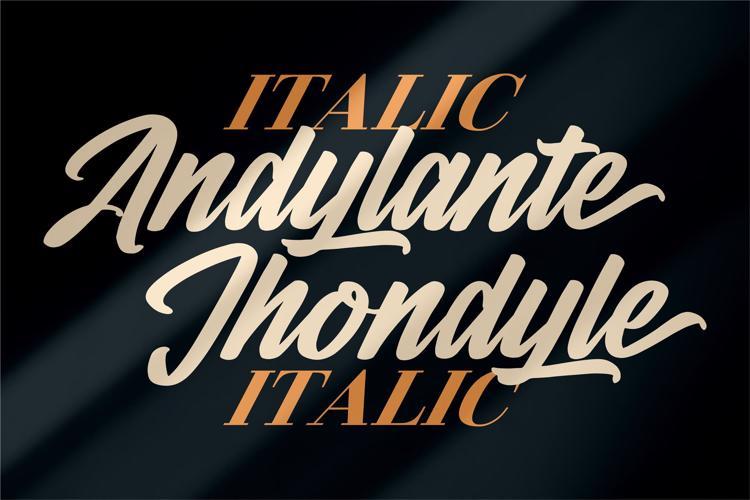 Andylante Jhondyle Font