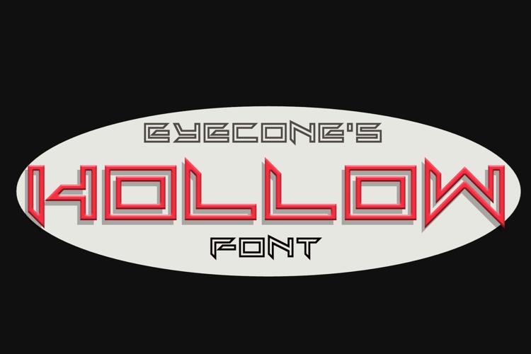 EC_Hollow Font