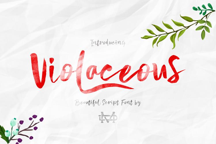 Violaceous Font