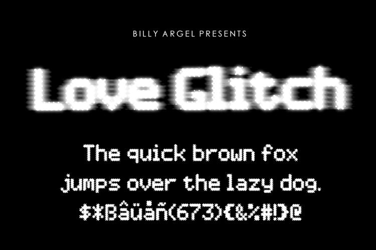 Love Glitch Font
