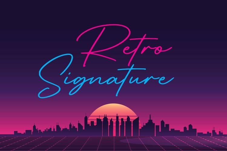 Retro Signature Font