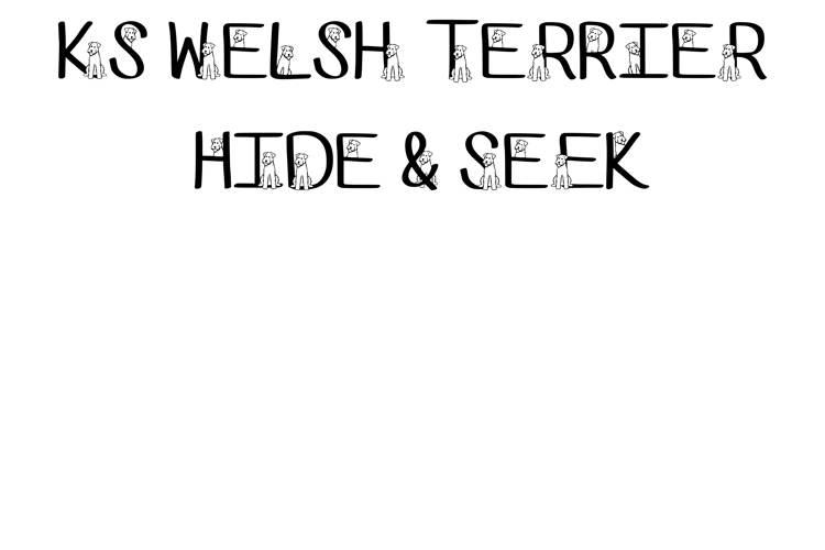 Ks Welsh Terrier Hide N Seek Font