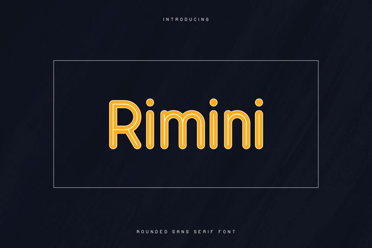 RIMINI-ROUNDED SANS SERIF FONT