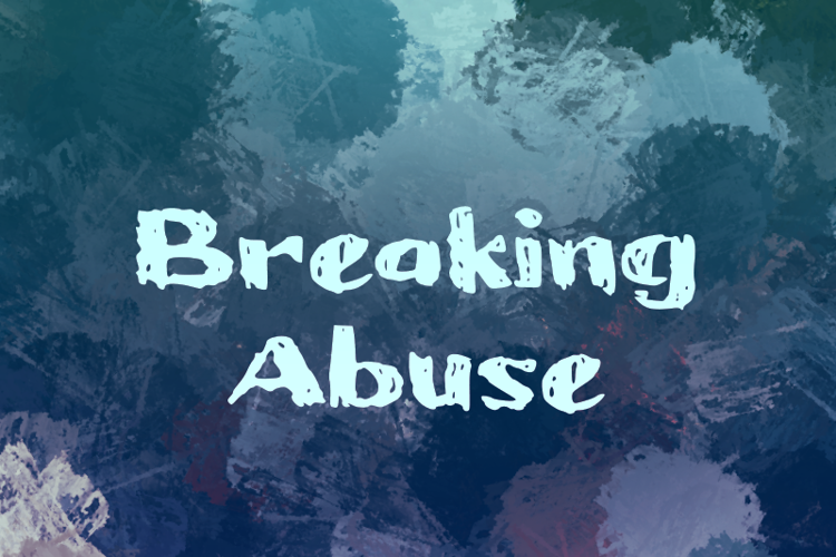 b Breaking Abuse Font
