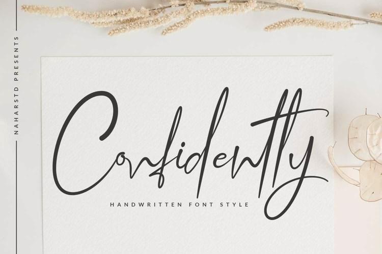 Confidently - Modern Signature Script Font
