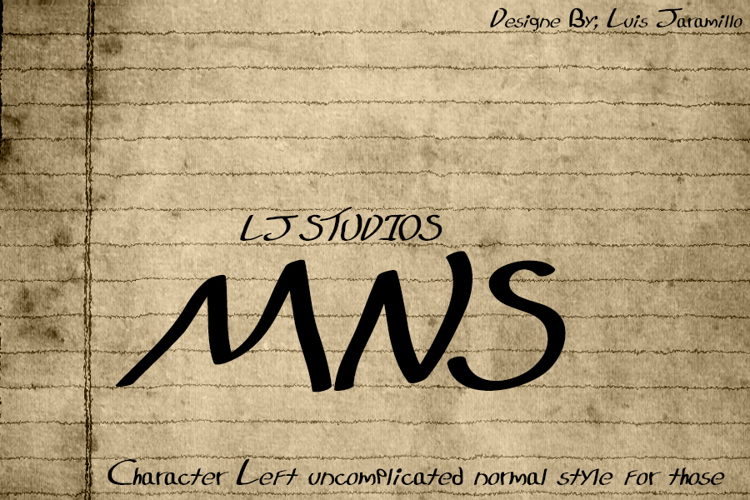 LJ Studios MNS Font
