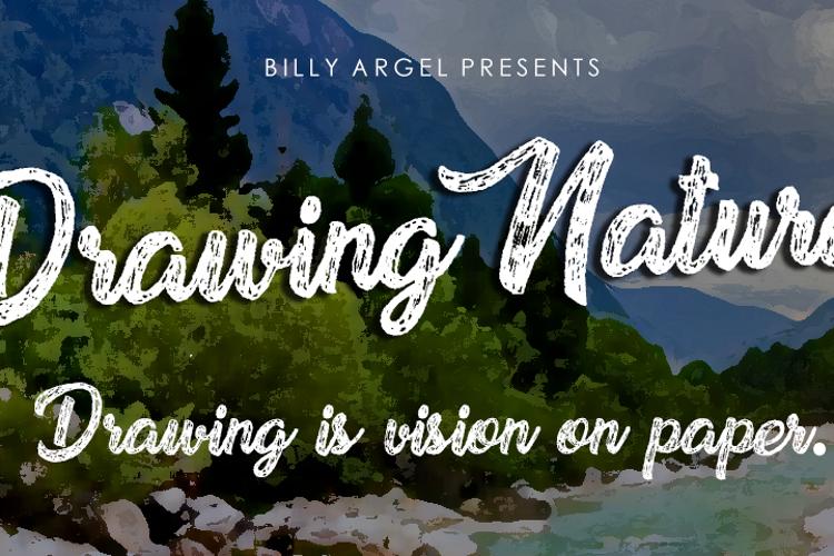 Drawing Nature Font