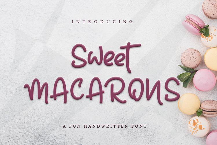 Sweet Macarons Font