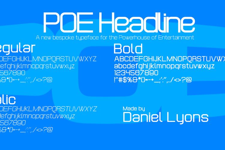 POE Headline Font