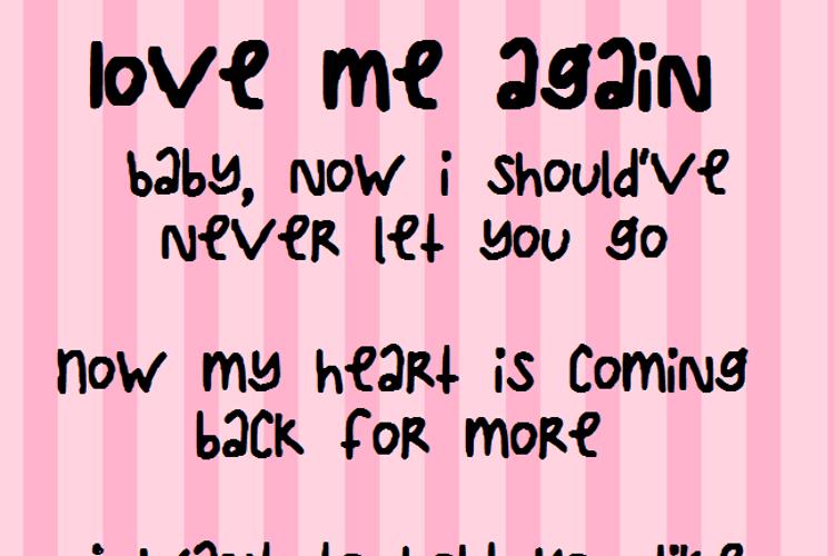 LoveMeAgain Font