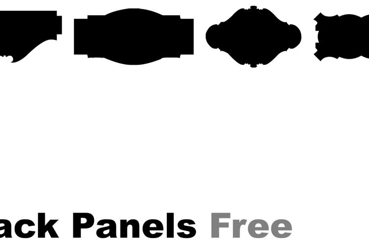 Black Panels Free Font