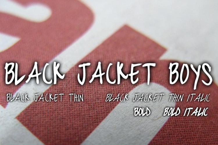 black jacket boys Font