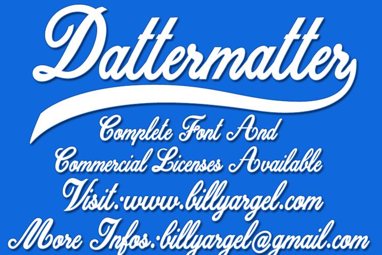 Dattermatter Font