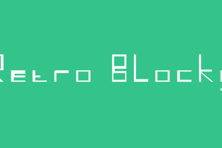 Retro Blocky Font