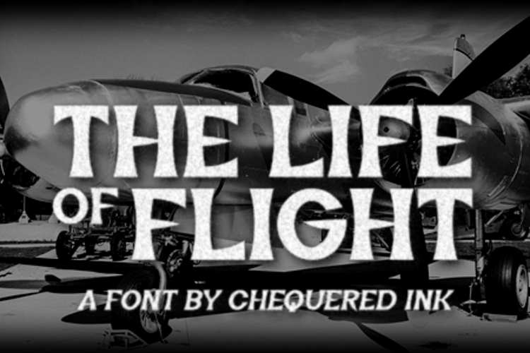 The Life of Flight Font