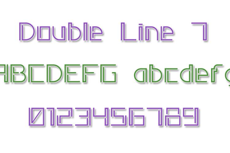 Double Line 7 Font