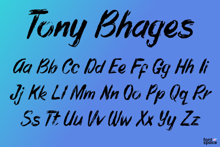 Tony Bhages Font