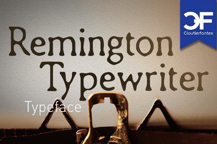 CF Remington Typewriter Font