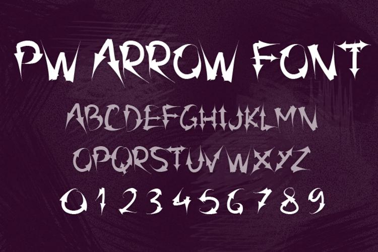 PW Arrow font