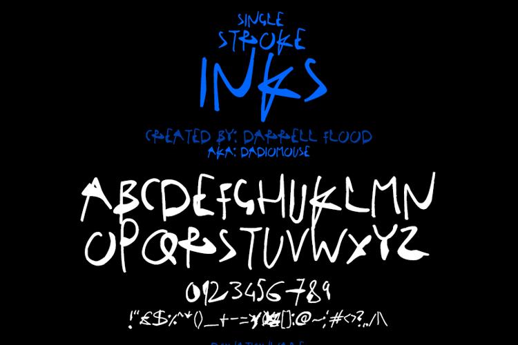 Single Stroke Inks Font