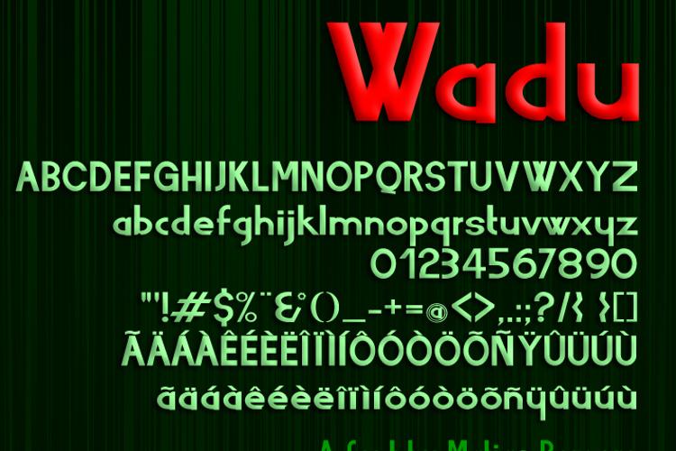 Wadu  Font