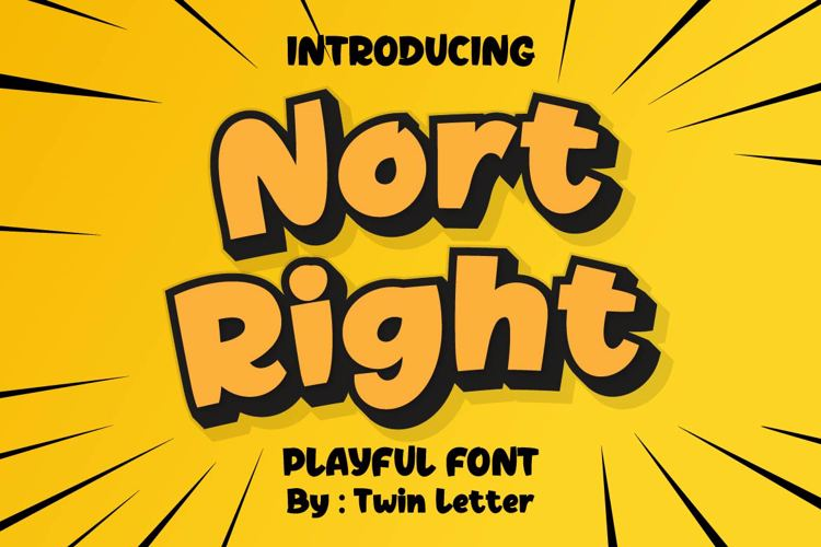 Nort Right Presonal Use Font