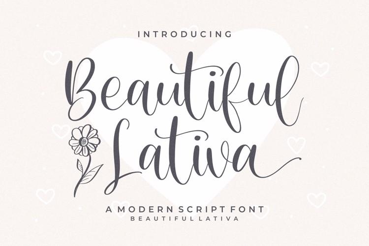 Beautiful Lativa Font
