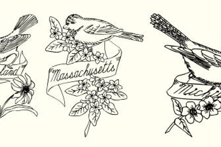 State Birds Font