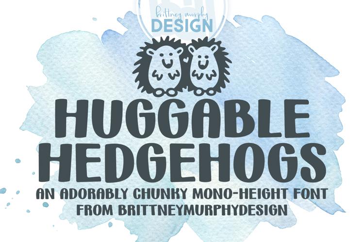 Huggable Hedgehogs Font
