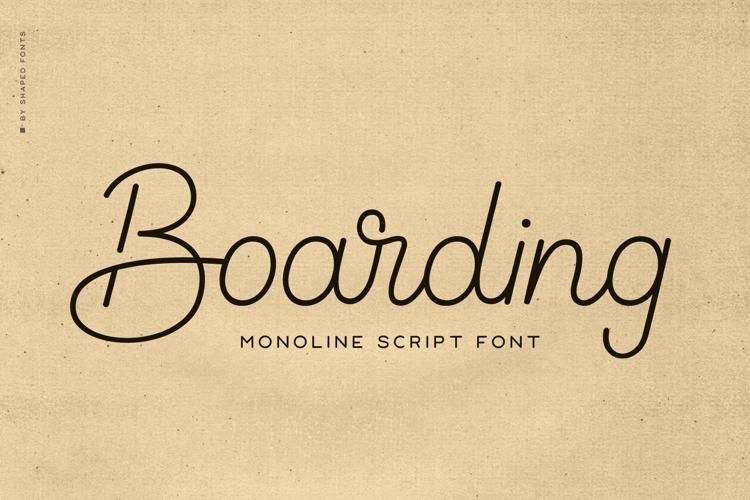Boarding Font