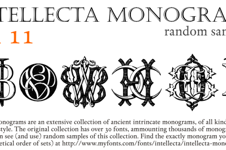 Intellecta Monograms Random Eleven Font