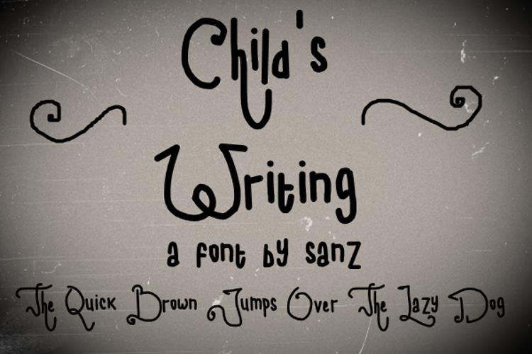child writing Font