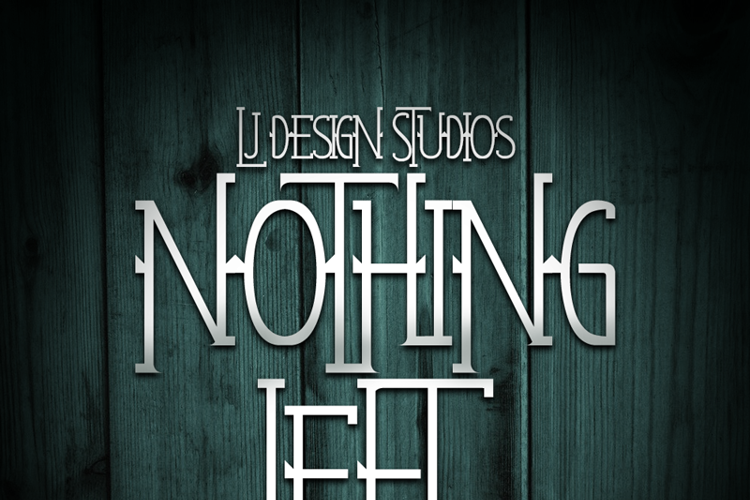 Nothing Left Font